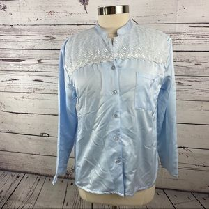 Kay Anna oversized embroidered night shirt size S